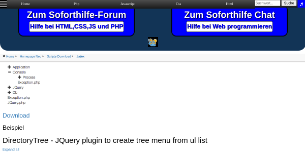 DirectoryTree JQuery plugin to create tree menu from ul list