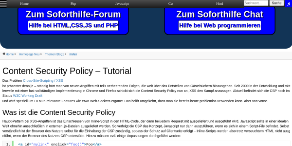 content security policy tutorial